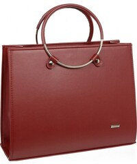 71d21c710f Červená moderná matná elegantná dámska kabelka S730 GROSSO