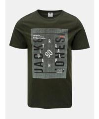 Zelené tričko s potlačou Jack   Jones Denim b20a3034cc0