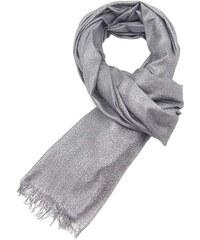 ff51c278f85 Tmavě šedá elegantní dámská šála s lurexem