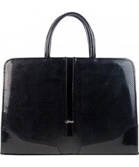 ce29699e66 Čierno-strieborná patinovaná dámska kabelka cez rameno S728 GROSSO ...