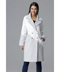 989a4f5fe4e Figl Šedo-bílý kabát M626