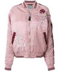 Alpha Industries blossom detail bomber jacket - Pink 461f97ef9b