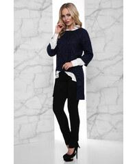 Tmavo modré Šaty s trojštvrťovým rukávom - Glami.sk 10dd8336a07