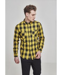 b5cf545097d6 Pánska košeľa URBAN CLASSICS CHECKED FLANELL SHIRT blk honey