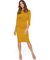 Žluté šaty s tříčtvrtečním rukávem - Glami.cz cd7b6444f43