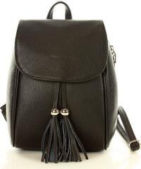 786c8c6c6d Čierny batoh MARCO MAZZINI so strapcami (PL47a)