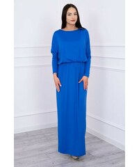 74607802d98 MladaModa Dlhé koktejlové šaty model 62250 farba kráľovská modrá