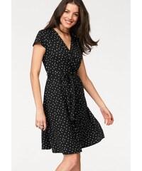 454468f630e1 Vivance Džersejové šaty v zavinovacom vzhľade čierna-biela