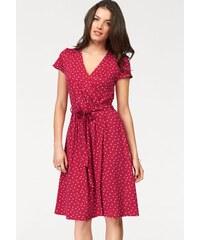5134c67deb6c Vivance Džersejové šaty v zavinovacom vzhľade červená-biela