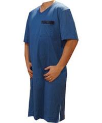xcena Noční košile krátký rukáv modrá V b2f50f7d67