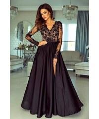 8f47191bdab EMO Dámské večerní šaty Leila černobéžové 38