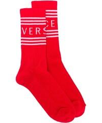 Versace jacquard logo knit socks - Red 5c5067fc1f
