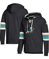 3568f7e24d3 San Jose Sharks pánska mikina s kapucňou black Adidas Jersey Lace-Up  Pullover Hoodie