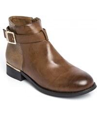 a7374abf87e Dámské hnědé kotníkové boty Halsey 124