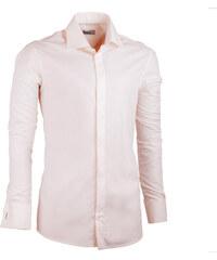 fbc3cc2e67f5 Predĺžená pánska košeľa slim fit šampaň Assante 20207. 39 ...