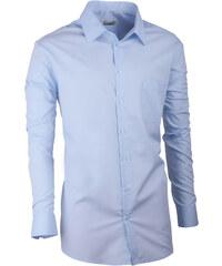 b48991377ba5 Modrá pánska košeľa s dlhým rukávom Aramgad 30481