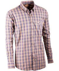 265ed460d775 Sivožltá pánska košeľa dlhý rukáv 100% bavlna Tonelli 110901