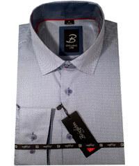 6b8e95082113 Modrá pánska košeľa s krátkym rukávom rovný strih Brighton 109953
