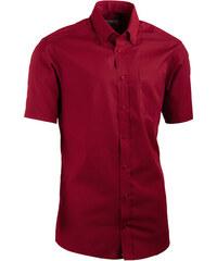 5603f9fc4204 Červená pánska košeľa slim fit s krátkym rukávom Aramgad 40334