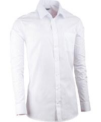 16237569d65a Biela košeľa s dlhým rukávom pánska Aramgad 30081