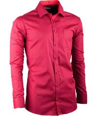 50fcbfcd4ed Bordó pánská košile slim fit s dlouhým rukávem Aramgad 30380