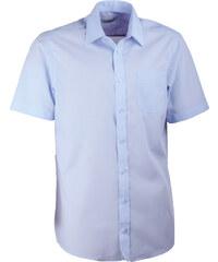 564e37827510 Modrá pánska košeľa rovná s krátkym rukávom Aramgad 40433