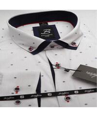 ba715752f0cc Biela pánska košeľa dlhý rukáv s dvojitým golierom Brighton 109968