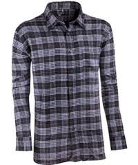 e0ae76b67043 Sivočierna flanelová košeľa s dlhým rukávom rovná Friends and Rebels 30819