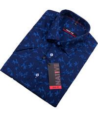 f89fb68507a0 Modrá pánska košeľa s krátkym rukávom Native 120305