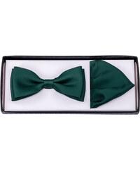 94b229d43a37 Zelený motýlik s vreckovkou Assante 90284