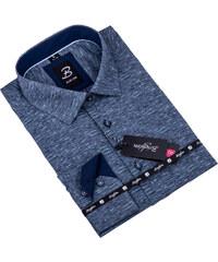 cbf22450e4bf Sivá s tyrkys pánska košeľa slim fit Brighton 109905