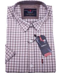 f3b7509e6d1c Béžová pánska košeľa krátky rukáv Tonelli 110808