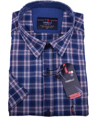 0f28f1f7e29f Modrá pánska košeľa 100% bavlna Tonelli 110816