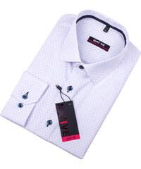 8c2d6dcdd71d Biela pánska košeľa vypasovaný strih Native 120011