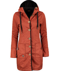 Kabát jarní dámský Woox Woolshell Ladies  Button Orange e4a86492709