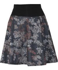Radka Kudrnová Půlkolová sukně šedo modro hnědé vzory 563584d0b8