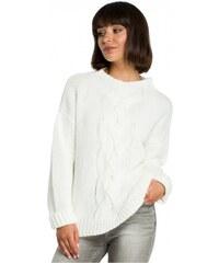 b47639c2597 BE Knit Dámský svetr BE Knit Mirrs bílý - bílá