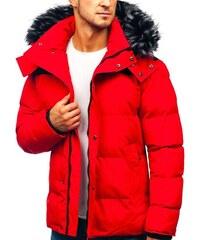 Červené Pánske bundy a kabáty z obchodu Bolf.sk - Glami.sk 773e298873b