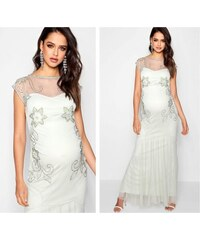 Těhotenské svatební šaty BOOHOO f0d1dfc035