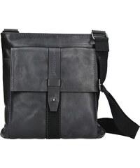 6ce641b56e Unisex kožená taška přes rameno Lagen Apolon - tmavě modrá