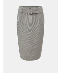 5af521b9020e Sivá kockovaná puzdrová sukňa s opaskom Dorothy Perkins