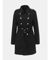 Čierny kabát s ozdobnými gombíkmi TALLY WEiJL 2cc45987f6f