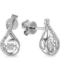 2958521d2 iZlato Forever Diamantové náušnice z bílého zlata 0,190 ct Dancing Diamonds  IZBR555AN