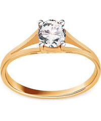 aac9bce17 iZlato Forever Zlatý dvojfarebný zásnubný prsteň so zirkónom IZ16930
