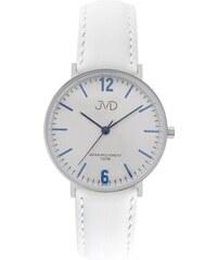 Bílé dámské luxusní elegantní hodinky JVD J4173.1 s modrými prvky bbd7953c10