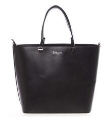 Luxusní dámská kabelka černá hladká - Delami Chantal černá 1b33a9a2cd0