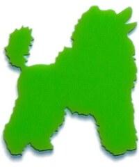 TitiMadam brož pudl - zelená