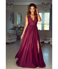 6dc99c256c3 EMO Dámské večerní šaty NANA bordó L