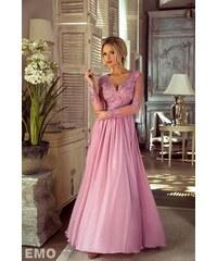 41025e535dd9 EMO Dámské večerní šaty Leila světle růžové S