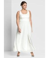 Bílé dlouhé šaty se vzorem - Glami.cz 8b548c5cbe